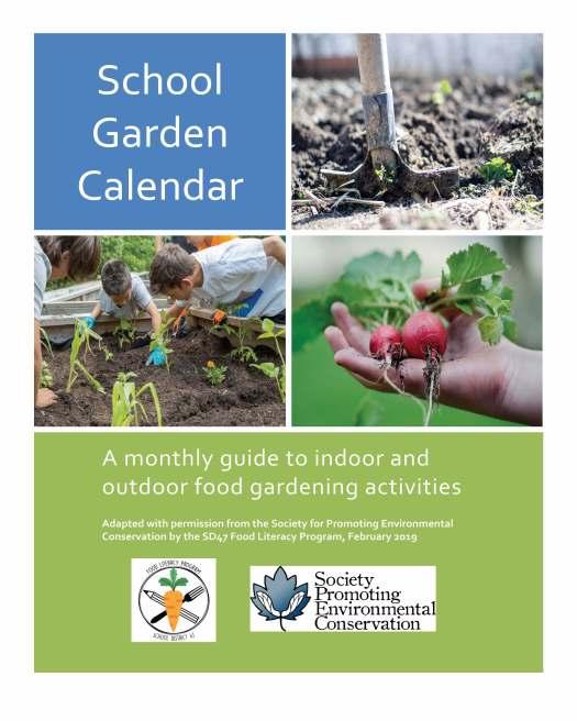 School Garden Calendar Cover Page