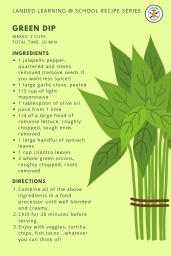 Green dip recipe card LL