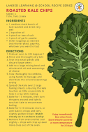 Roasted kale chips recipe card